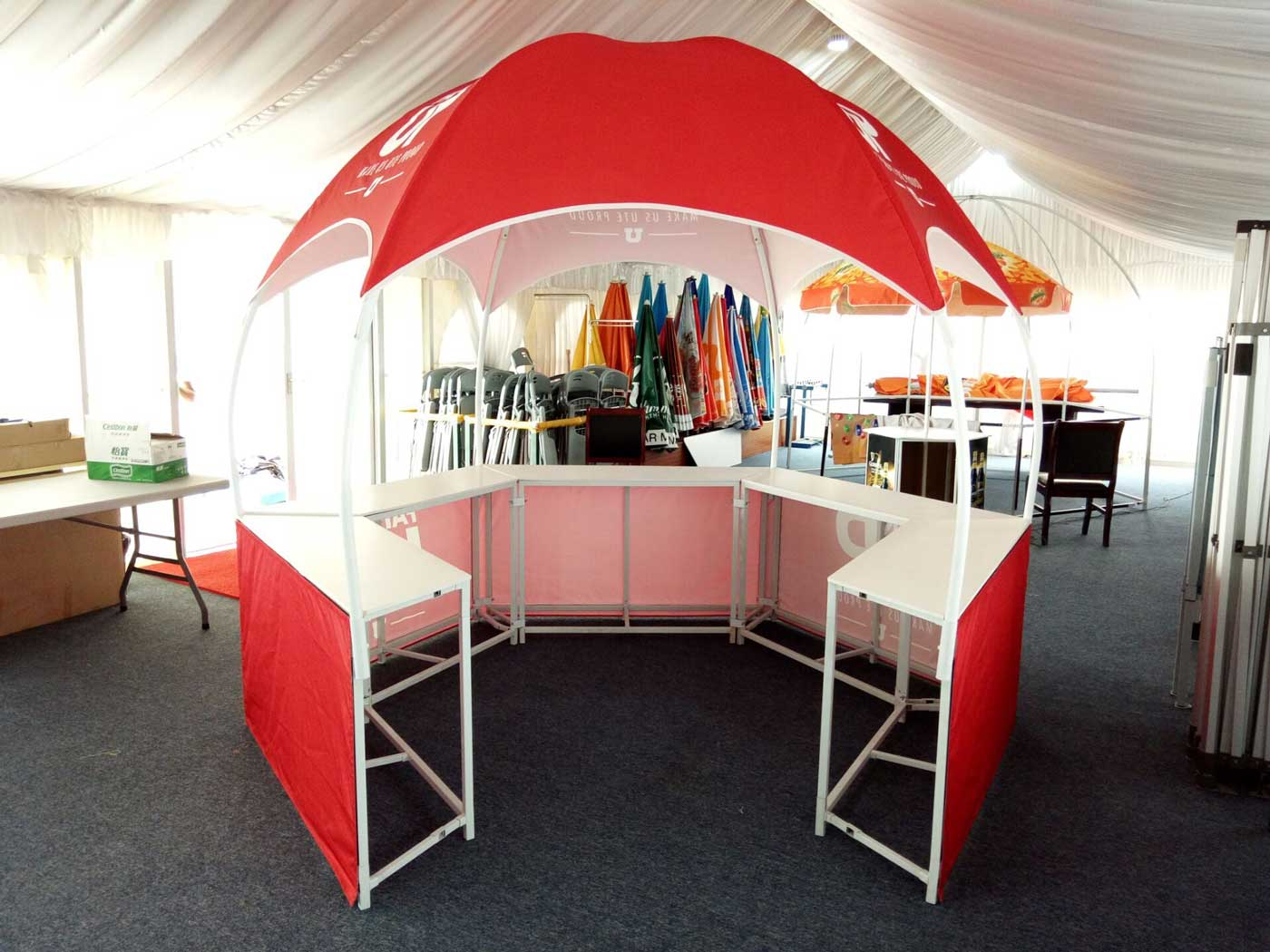 Hexagon Promotional Booth Tent Dome Tents Lemonade Stands