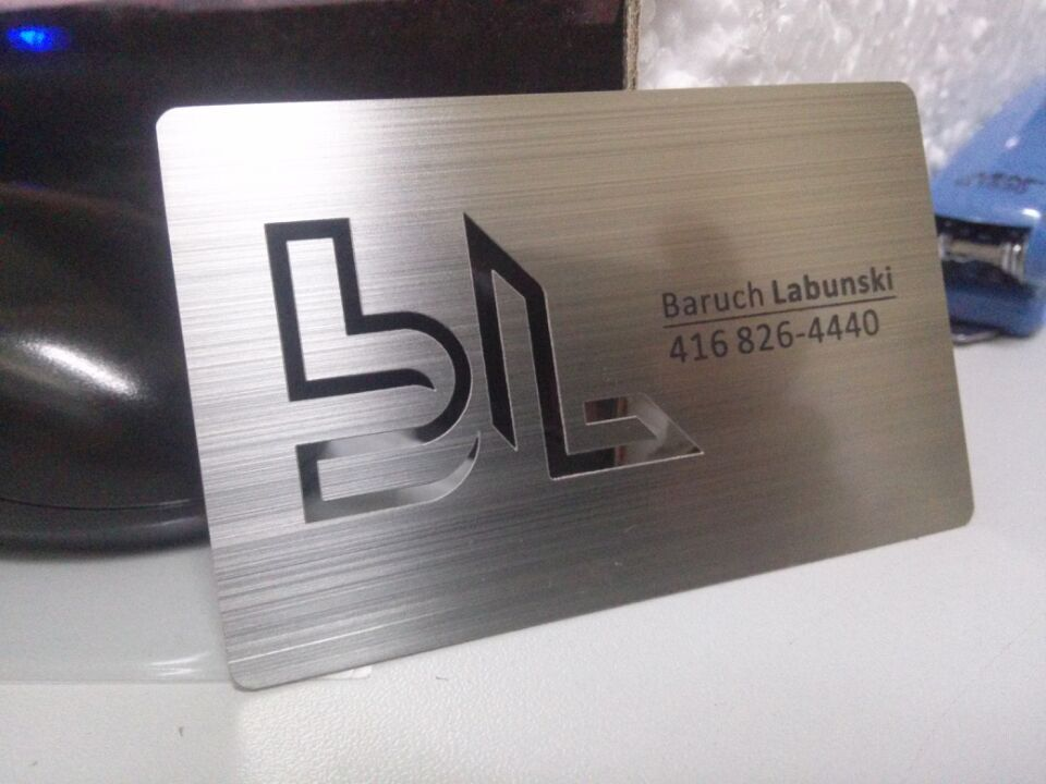 Metal Business Cards Silver Gold Black Free