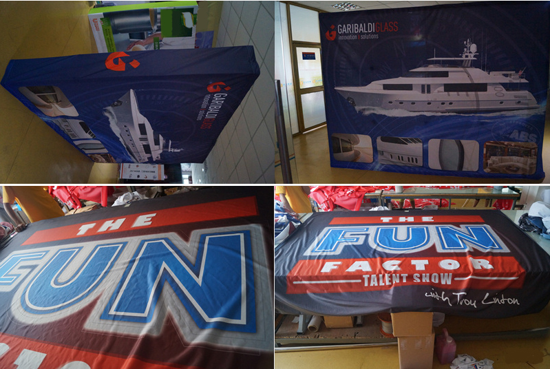 Fabric Banners and Pop up Display for Garibaldi Glass and ...