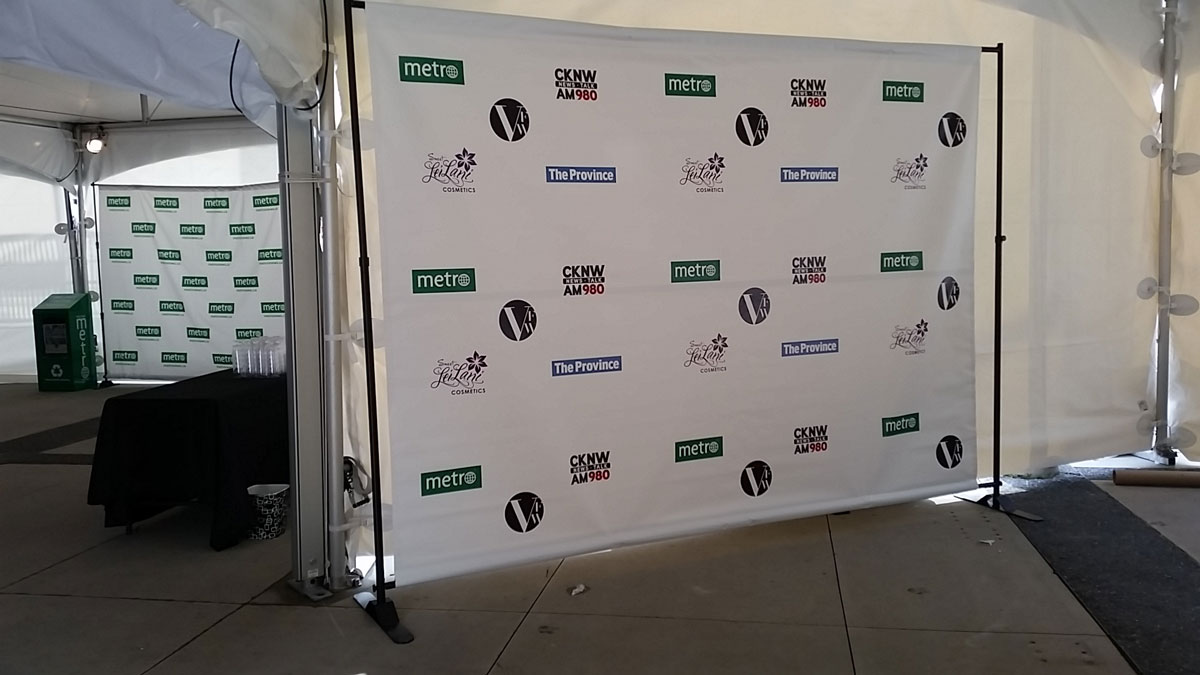 Backdrop Stand for Banners, Displays, Step & Repeat Walls