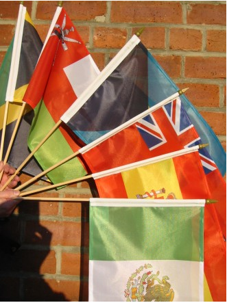 Custom Printed Hand Flags Stick Flags Parade Flags