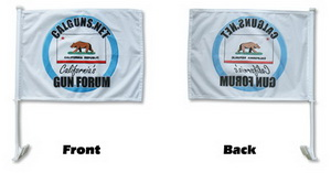 Premium Custom Made Car Flags - Single Sided