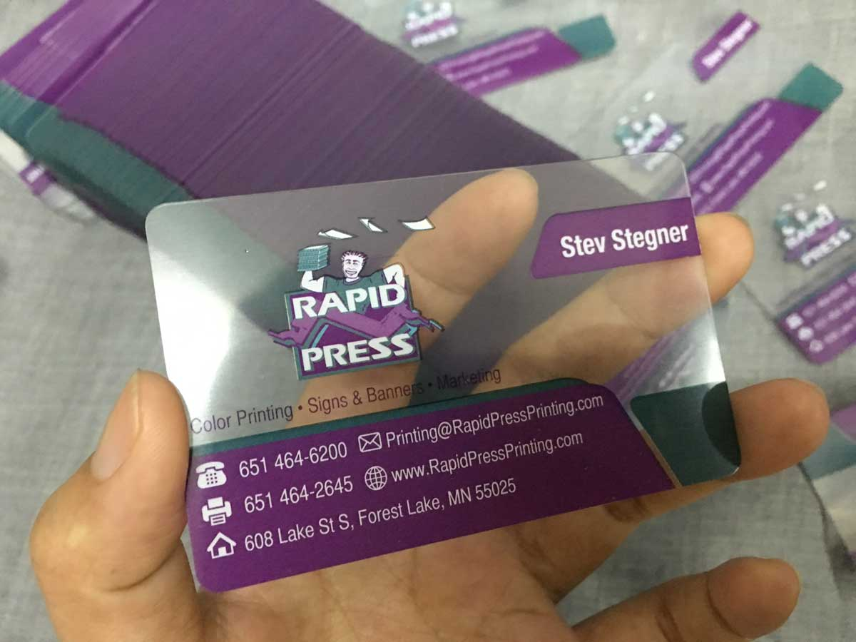 transparent business cards clear business cards free shipping - Clear Business Cards