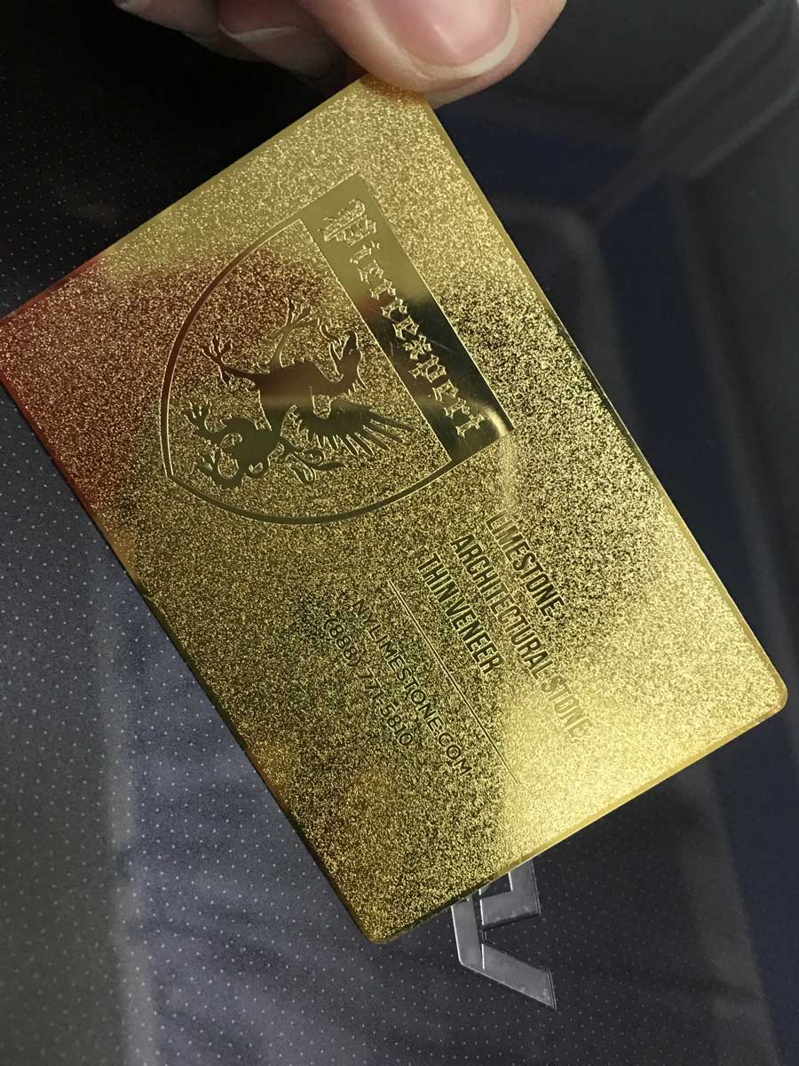 gold metal business cards - luxury and stylish