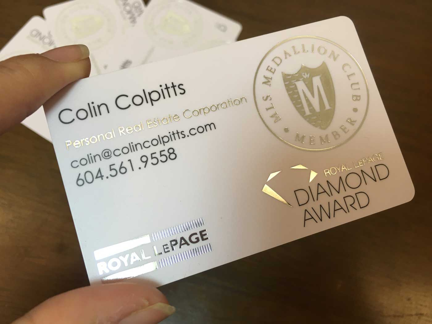 silver gold foil stamped business - Fieldstation.co