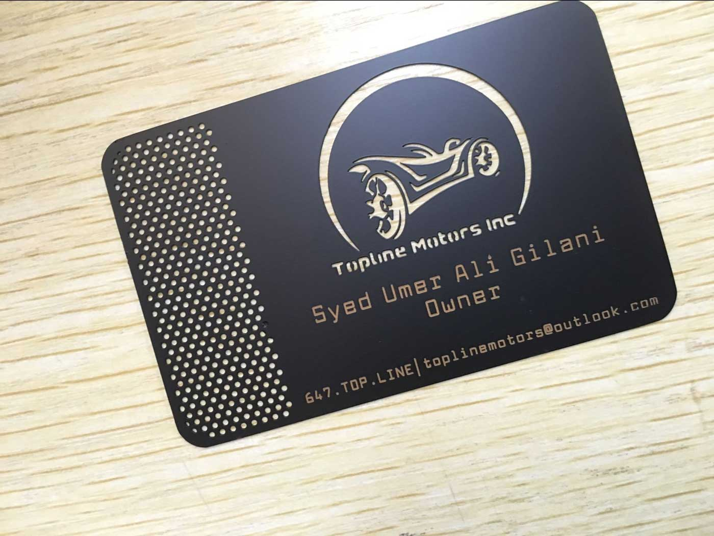 Matte Black Metal Business Cards