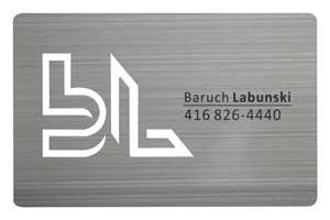 Silver Metal Card Brushed