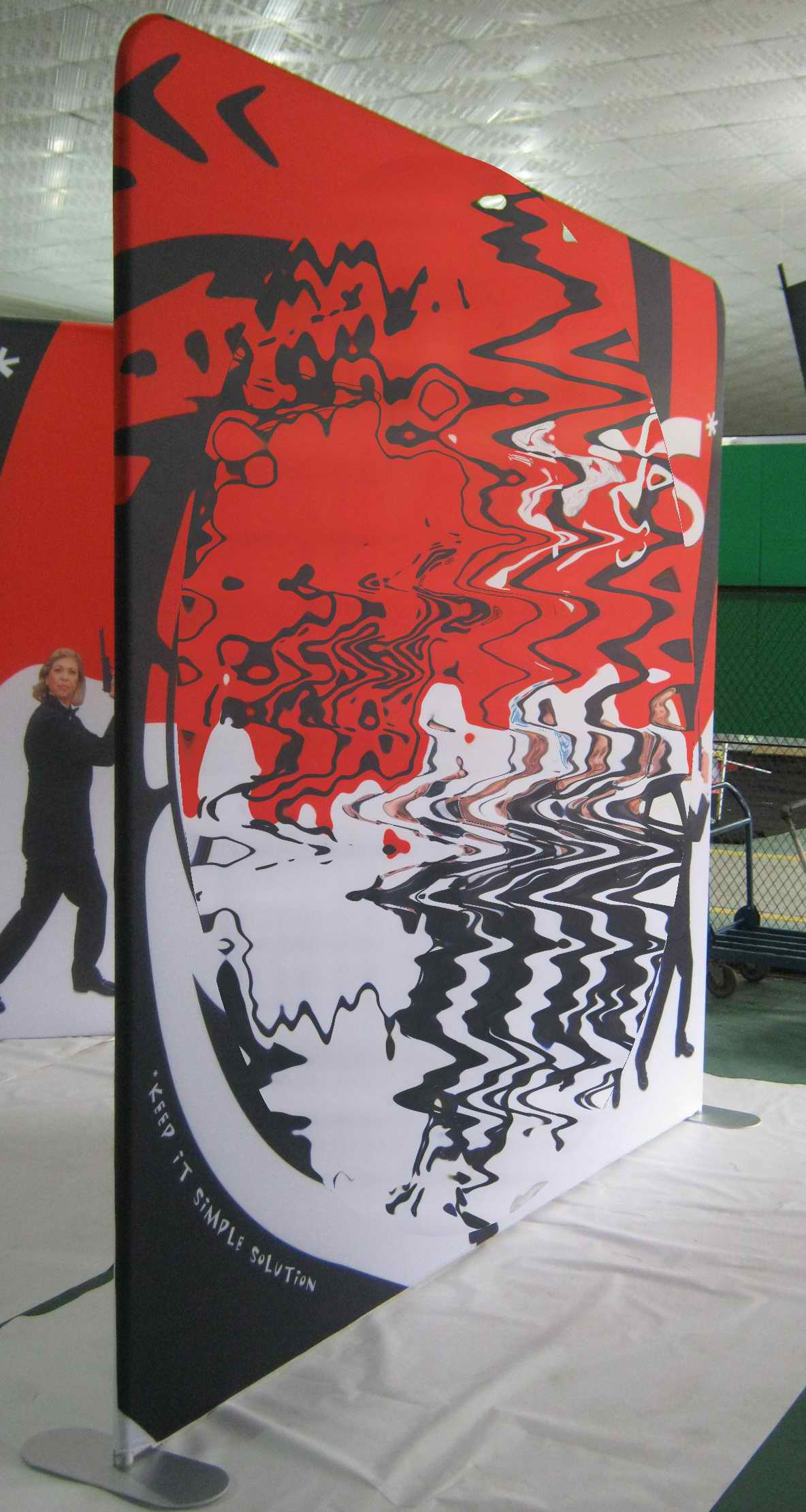 Fabric Exhibition Stand Here Alone : Tension fabric displays waveline for trade shows