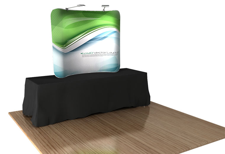 Fabric Exhibition Stand List : Table top tension fabric displays