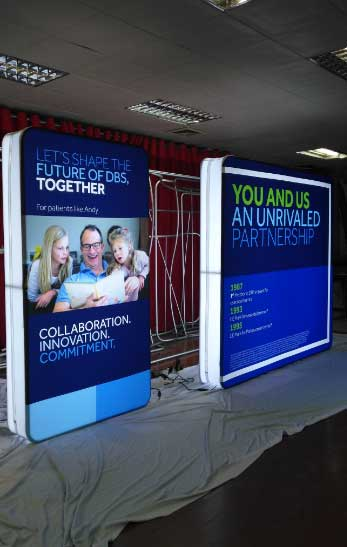 Portable Led Screens : Led lightbox completely portable for tradeshows free