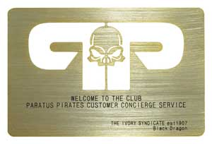 Gold Metal Card with laser cut out