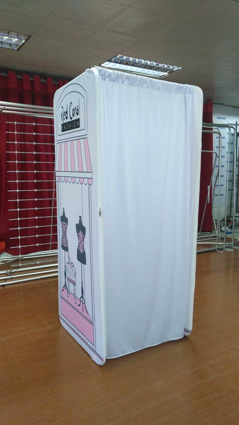 Portable Room Enclosures : Portable dressing room custom print change rooms