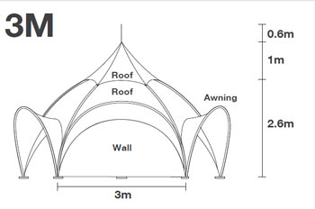 10 foot Arch Dome Tent