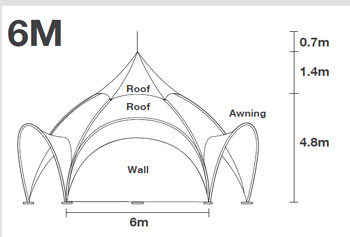 Arch Dome Tent 20 foot