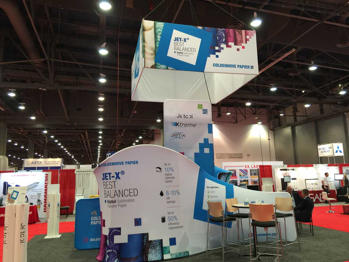 Square Hanging Banner For Trade Shows Exhibitions Retail
