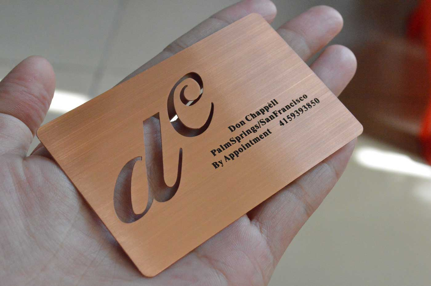 Rose Gold Metal Business Cards Free Shipping Usa